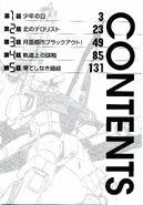 Mobile Suit Gundam in UC 0099 Moon Crisis Vol Contents01