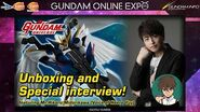 【GUNDAM ONLINE EXPO】GUNDAM UNIVERSE Unboxing and interview! ft. MR