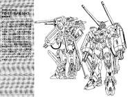 F90S Gundam F90 Support Type Lineart