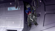 MSGSD (Remastered) Ep39 a badly damaged Strike Rouge Gundam in the hangar of the Eternal