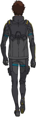 U.C. 0105(Pilot Suit, Rear)