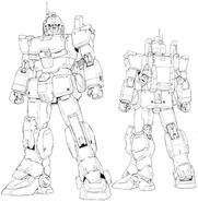 Master grade-ez-8 gundam-lineart