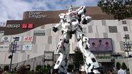 The Life-Sized Unicorn Gundam Statue