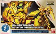 RG Unicorn Gundam -Gold Coating-