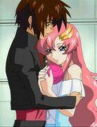 Kira Begs Lacus for Freedom Gundam