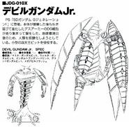 JDG-010 Devil Gundam Junior Back and Front lineart