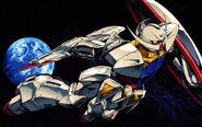 Turn A Gundam Earth Space Illustration