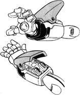 XM-X3 - Crossbone Gundam X-3 - Left Arm I Field Generator
