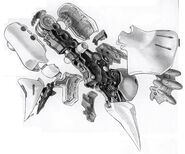 AMX-004 Qubeley Leg Cut Away