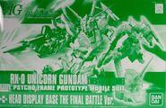 HG Unicorn Gundam Destroy Mode + Head Display Base Final Battle Ver