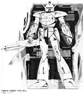 Mead Turn A Gundam Black and White