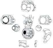 Atlas Gundam Torso