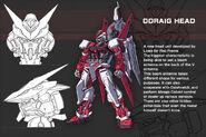 Gundam Astray Red Frame with Ddraig Head- Data