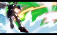 Defeated by Captain Zeon's God Gundam