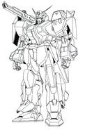 GAT-X102 Duel Gundam Assault Shroud Lineart