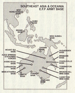 South East Asia and Oceania Base Locations Map