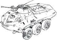 ArmoredVehicle LineArt The08thMSTeam KimitoshiYamane