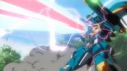 Calamity Gundam Multi-phase Energy Cannon Firing 01 (Seed HD Ep38)