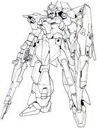 Lightning Gundam BWS BW front lineart BQ