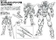GN-001REIII Gundam Exia Repair III Lineart