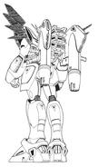 HWF91 Gundam F91 Heavy Weapons Type Rear Lineart