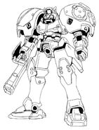 OZ-02MD Virgo Front View Lineart