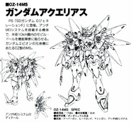 OZ-14MS Gundam Aquarius Back and Front lineart