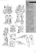 F90 Gundam F90 Lineart
