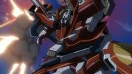 Gundam Throne Zwei aiming its GN HandGun