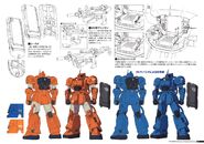 Gundam The Origin Mechanical Work 1st Vol MS-04 Bugu C