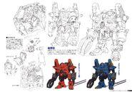 Gundam The Origin Mechanical Work 1st Vol model 01 late type