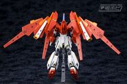 BN-876β Hot Scramble Gundam (Gunpla) (Rear)
