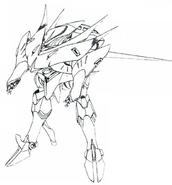 AMX-001 (MSN-008) Prototype Qubeley lineart