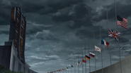Earth Federation Member States Flags Half Mast MSGTO AotRC ep09 07m14s