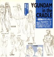 Turn A Gundam Characters Earlier Designs