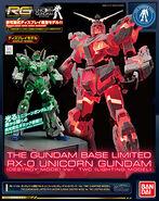 RG Unicorn Gundam -Destroy Mode- Lighting Model Ver. TWC