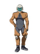 G Gen Cross Rays Custom Character (Male Tekkadan Pilot with Helmet)