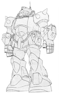MS-07C-3 Gouf Heavy Arms Type Lineart