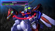 Fuunsaiki and God Gundam in SD Gundam G Generation Overworld