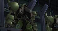 ZAKU Warrior in a Hangar 01 (Seed Destiny Ep1)