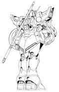 XXXG-01S Gundam Shenlong Back View Lineart