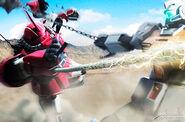 Trouble 012Gundam Hammer vs Heat Rod