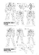 Gundam AGE-1 Titus and Spallow