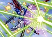 Destiny Gundam X42S Battle