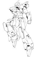 Lightning Gundam crotch parts transparent