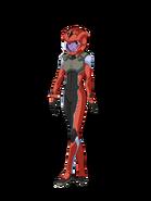 G Gen Cross Rays Custom Character (Female Celestial Being Pilot with Helmet)