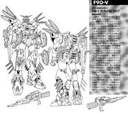 F90V Gundam F90 VSBR Type Lineart