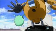 Mobile Pod equipped with gundam arm (Gundam AGE)