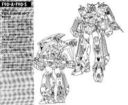 F90A Gundam F90 Assault Type Lineart