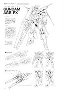 AGE-FX Gundam AGE-FX Lineart 1